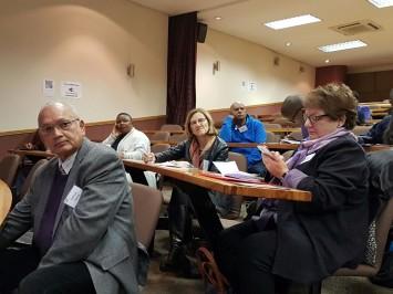 Samuel Isaacs, BRIDGE's Melissa King, BRIDGE's Pat Sullivan and BRIDGE's Vuyiswa Ncontsa